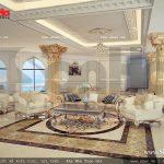 Thiết kế nội thất sảnh lễ tân khách sạn 5 sao tại Phú Quốc sh ks 0023