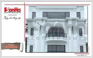 4 Ảnh công trình thực tế kiến trúc nhà hàng cổ điển Pháp tại Quảng Ninh sh bck 0035