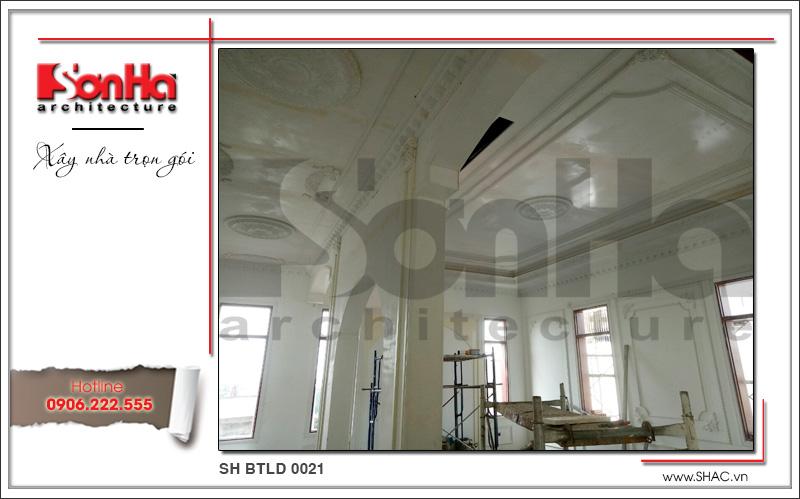 Mẫu biệt thự cổ điển 4 tầng kiểu Pháp sang trọng – SH BTLD 0021 43