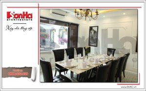 6 Ảnh nộ thất thực tế phòng ăn nhà hàng cổ điển Pháp tại Quảng Ninh sh bck 0035
