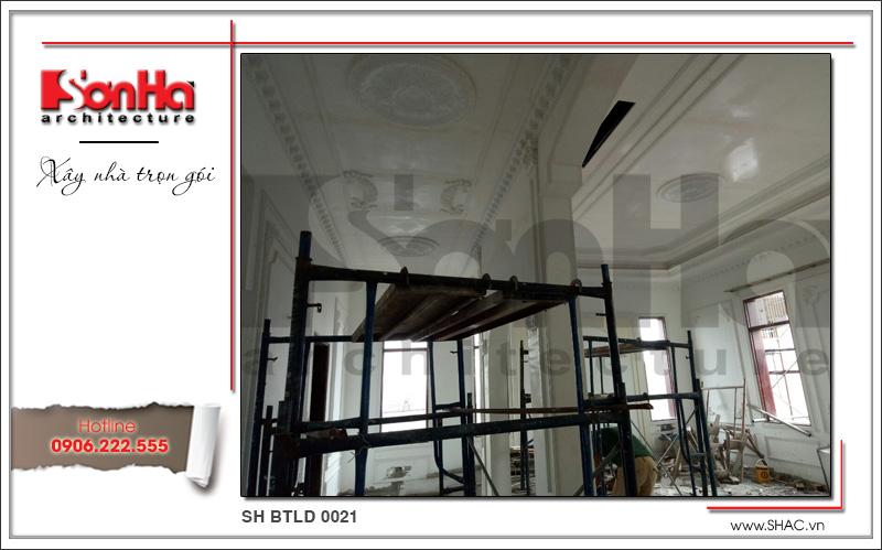 Mẫu biệt thự cổ điển 4 tầng kiểu Pháp sang trọng – SH BTLD 0021 45