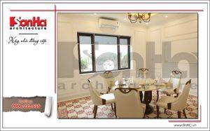 7 Ảnh nộ thất thực tế phòng ăn nhà hàng cổ điển Pháp tại Quảng Ninh sh bck 0035