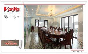Ảnh nội thất thực tế phòng ăn VIP nhà hàng cổ điển Pháp tại Quảng Ninh sh bck 0035