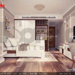 Thiết kế nội thất phòng ngủ lữ hành đơn khách sạn 5 sao tại Phú Quốc sh ks 0023