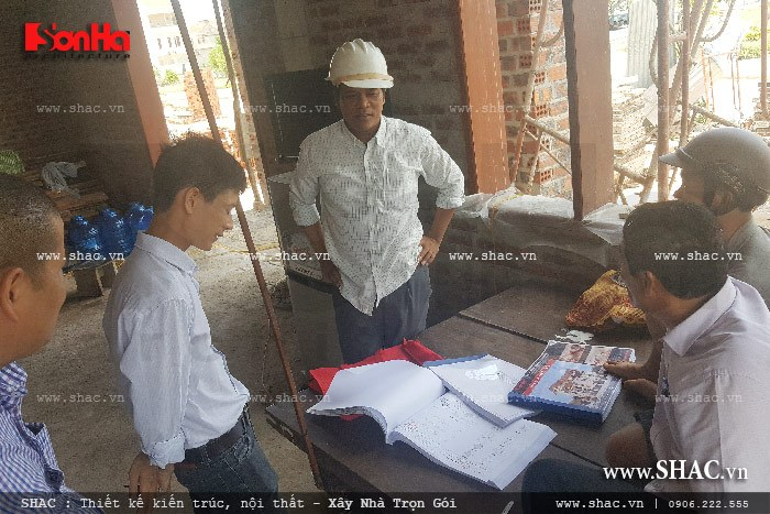 Ảnh thực tế đang thi công của công trình sh btp 0069