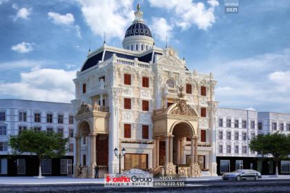Biệt thự cổ điển 4 tầng kiểu pháp rộng 400m2