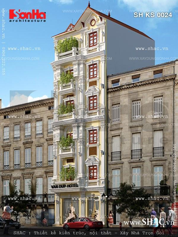 Khách sạn 6 tầng mặt tiền 7m sh ks 0024