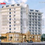 Khách sạn có mặt tiền được thiết kế đẹp sh ks 0023
