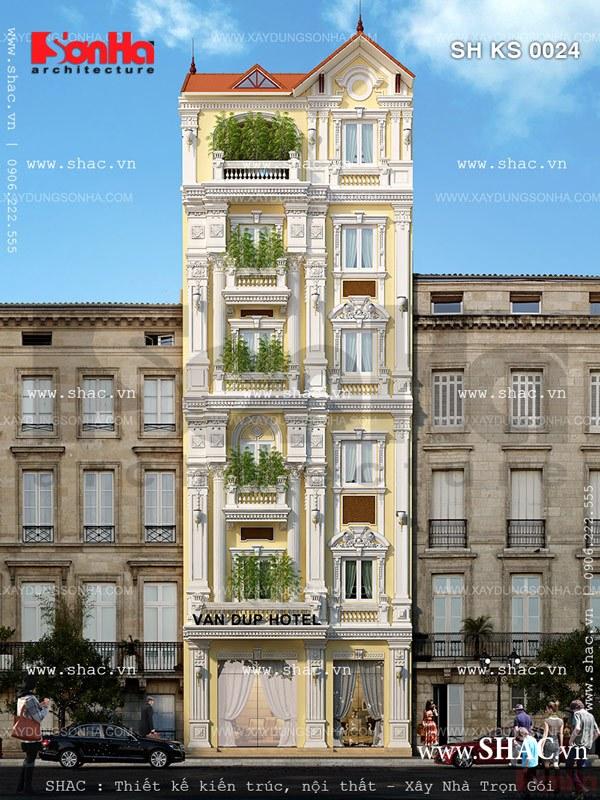 Khách sạn mang kiểu kiến trúc nhà phố sh ks 0024