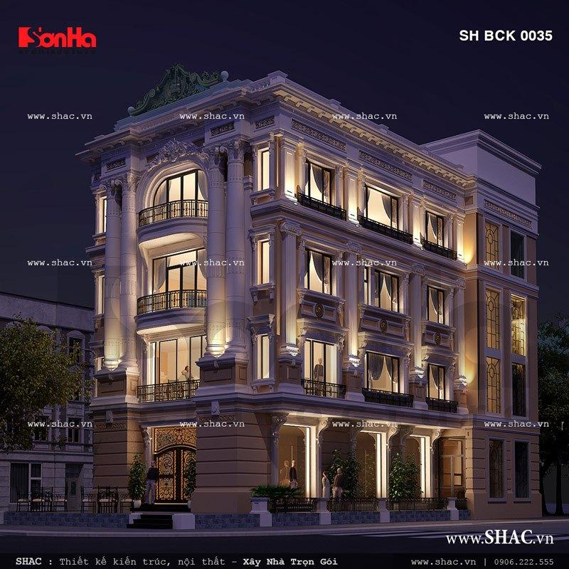 Kiến trúc của nhà hàng khi về đêm sh bck 0035