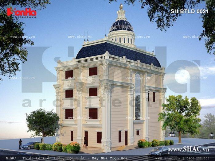 Mặt sau của biệt thự cổ điển này sh btld 0021