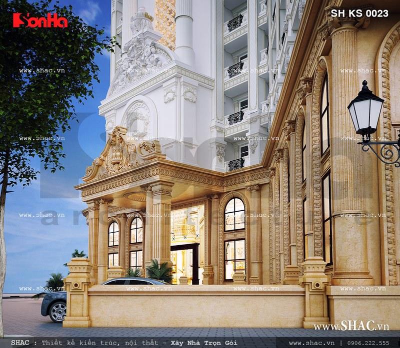 Mặt tiền tầng một của khách sạn đẳng cấp sh ks 0023