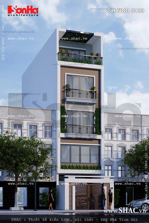 Nét khang trang và sang trọng của mẫu thiết kế nhà phố mặt tiền 5m kiểu hiện đại đẹp