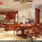 Nội thất bếp ăn bằng gỗ sang trọng sh btp 0069