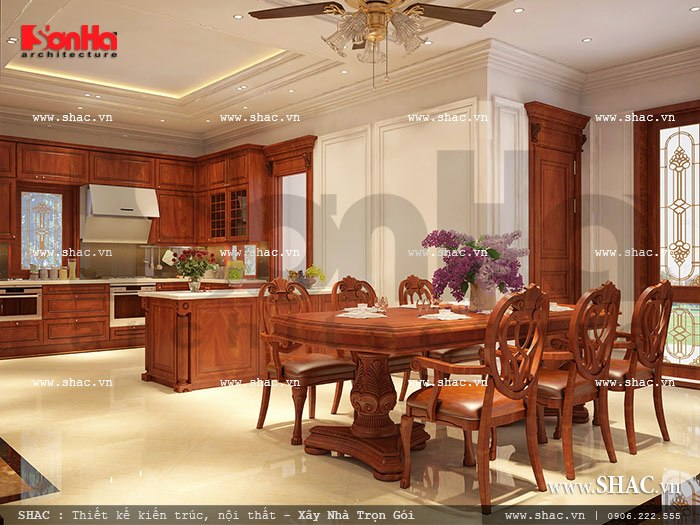 Nội thất nhà biệt thự đẹp phong cách cổ điển 13