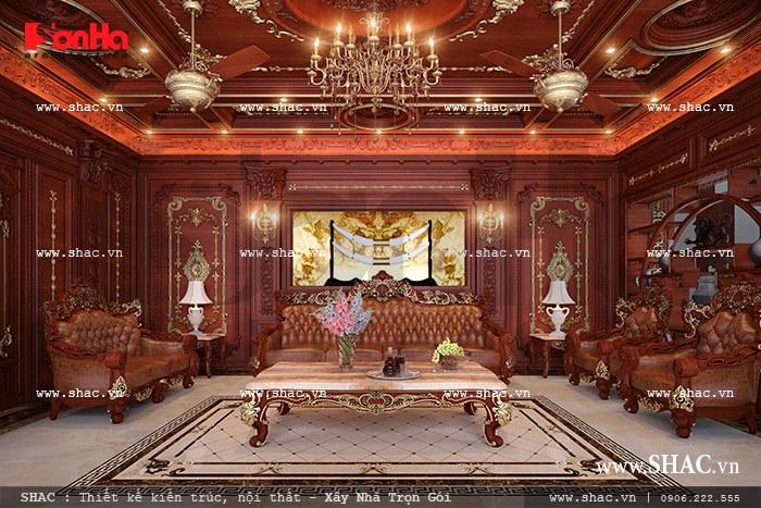 mẫu phòng khách trang trí bằng gỗ đẹp nhất