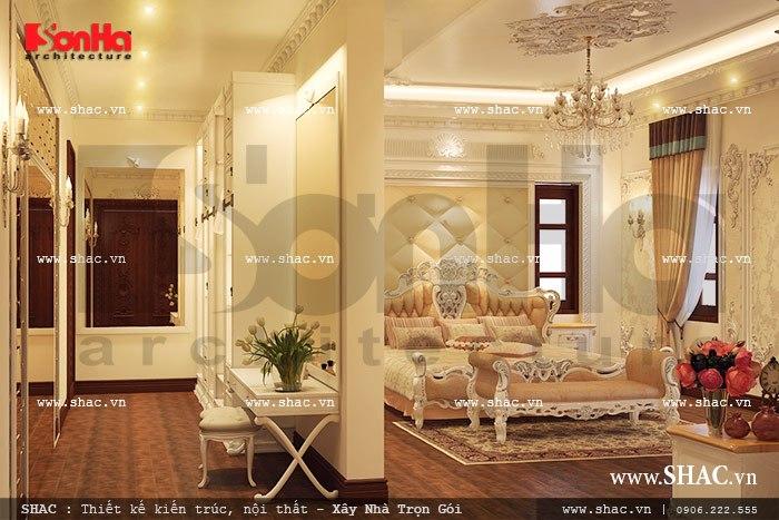 Nội thất phòng ngủ phong cách pháp sang trọng sh btld 0021