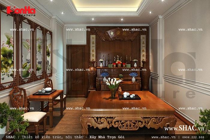 Nội thất phòng thờ được thiết kế đẹp sh btp 0068