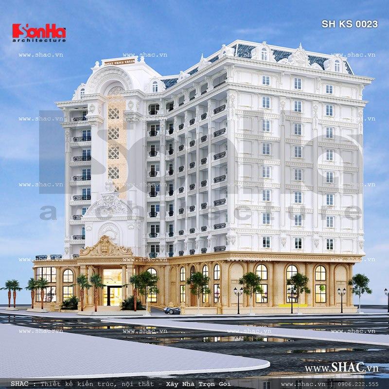 Mẫu kiến trúc khách sạn 5 sao kiểu Pháp