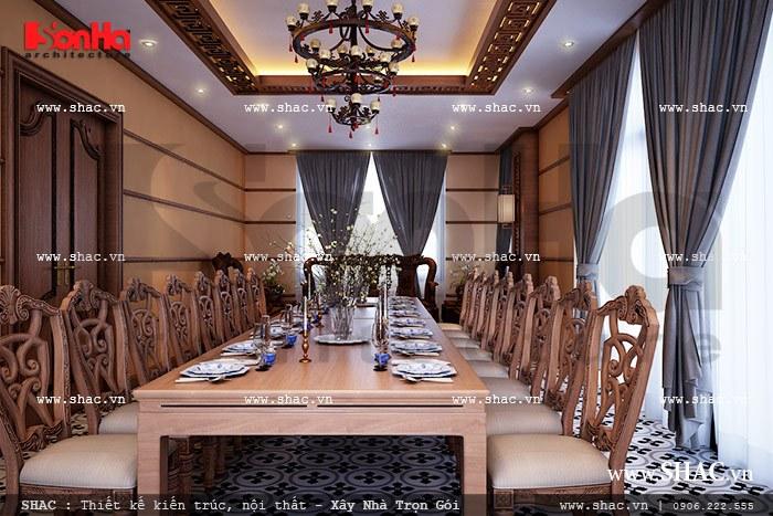 Phòng ăn nhà hàng bố trí nội thất động kỵ cao cấp sh bck 0035