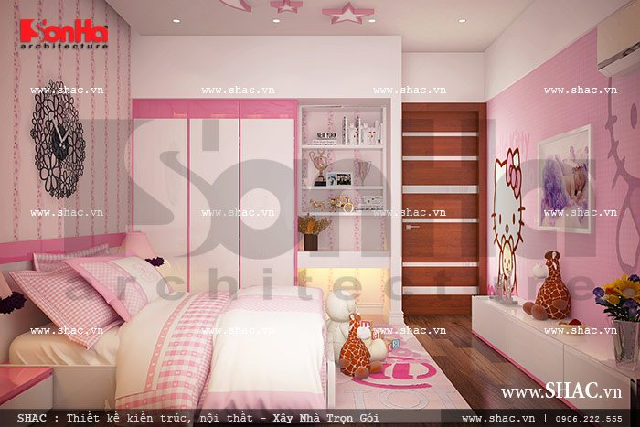 Phòng ngủ con gái sh btd 0036