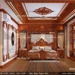 Phòng ngủ ốp gỗ tạo không gian mát mẻ sh btld 0021