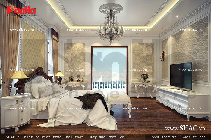 Phòng ngủ sang trọng kiểu pháp sh btp 0068