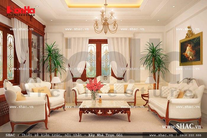 Nội thất nhà biệt thự đẹp phong cách cổ điển 4