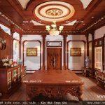Phòng thờ mang phong cách cổ điển sh btld 0021