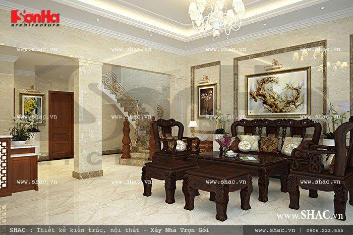 Thiết kế phòng tiếp khách tại sảnh khách sạn tiêu chuẩn 2 sao sang trọng