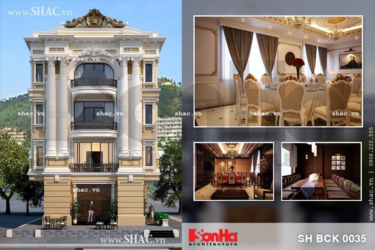 Thiết kế nhà hàng sang trọng 4 tầng sh bck 0035