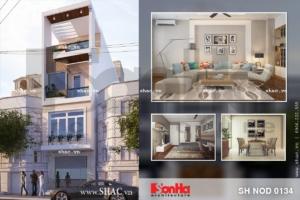Thiết kế nhà phố hiện đại nội thất trẻ trung sh nod 0134