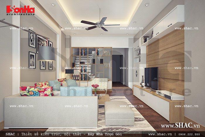 Phòng khách hiện đại và đơn giản
