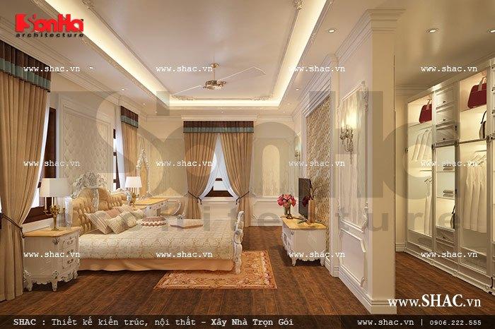 nội thất phòng ngủ kiểu cổ điển cho biệt thự