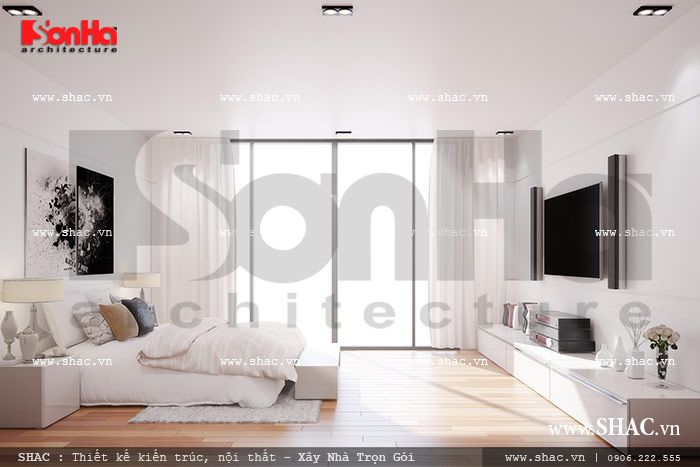 Thiết kế phòng ngủ hiện đại và thoáng đãng sh nod 0133
