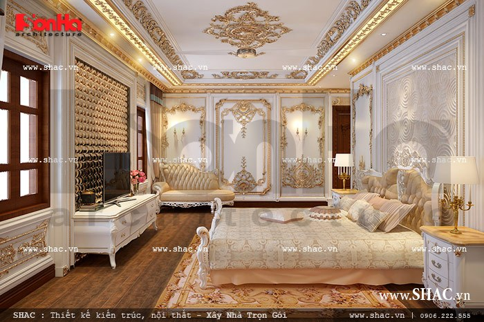 Thiết kế phòng ngủ phong cách cổ điển sang trọng sh btld 0021