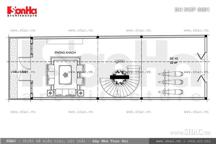 Nhà phố mặt tiền 6m kiến trúc Pháp cổ điển – SH NOP 0091 4