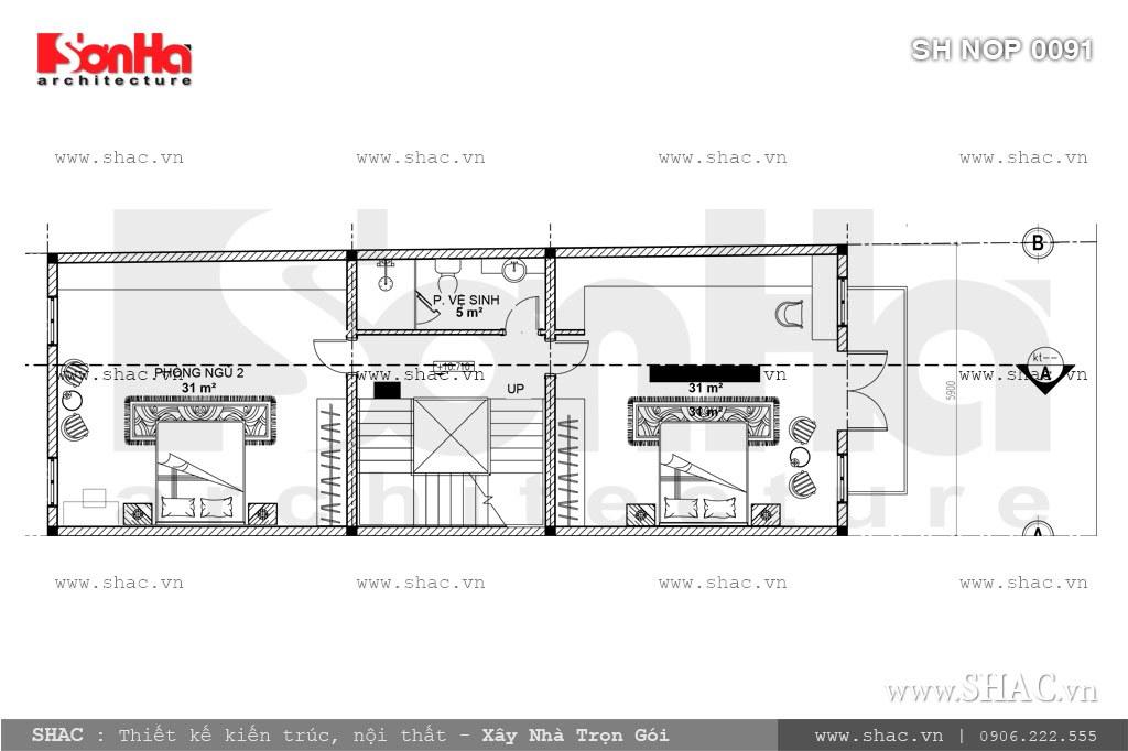 Nhà phố mặt tiền 6m kiến trúc Pháp cổ điển – SH NOP 0091 7