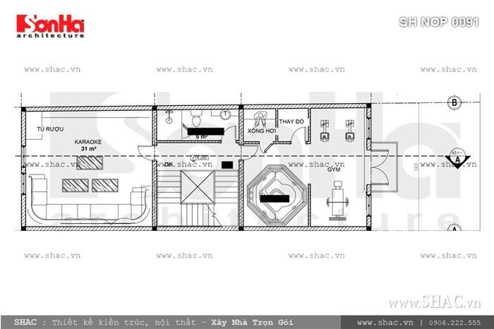 Nhà phố mặt tiền 6m kiến trúc Pháp cổ điển – SH NOP 0091 8