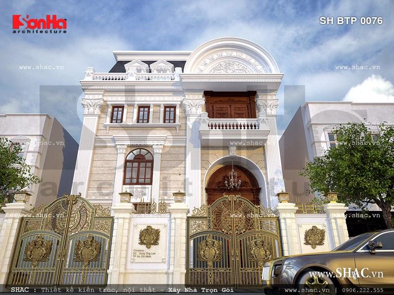 Thiết kế biệt thự hai tầng kiểu Pháp đẹp – SH BTP 0076 3
