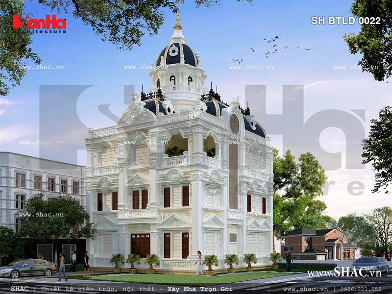 Biệt thự mang kiến trúc cổ điển sh btld 0022