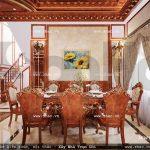 Bộ bàn ăn kiểu pháp cổ điển sh btld 0022