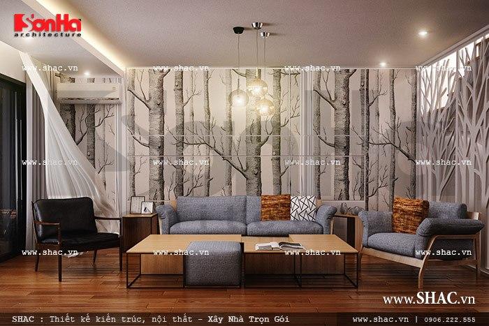 Bộ bàn ghế phòng khách đơn giản sh nod 0136