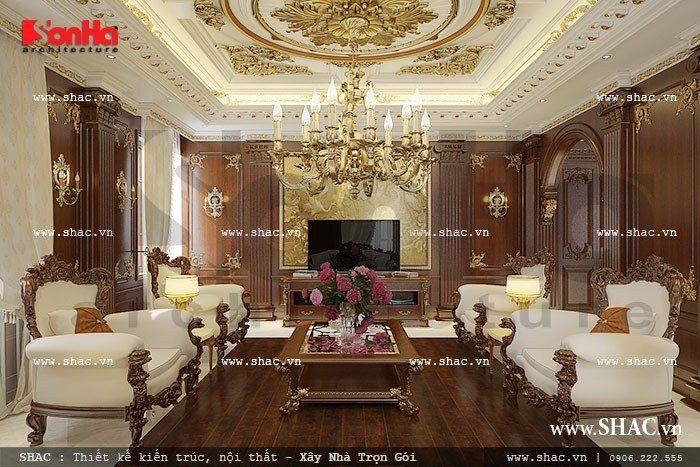 Không gian phòng khách sạn trong và đẳng cấp phong cách cổ điển châu Âu được trang hoàng lộng lẫy