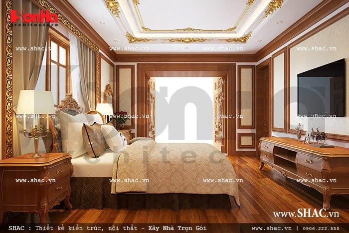 Thiết kế biệt thự hai tầng kiểu Pháp đẹp – SH BTP 0076 8