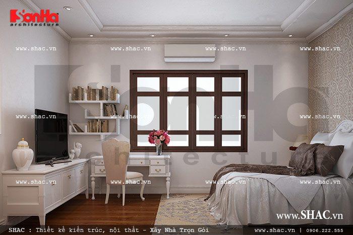 Không gian phòng ngủ kiểu pháp nhẹ nhàng sh nop 0090