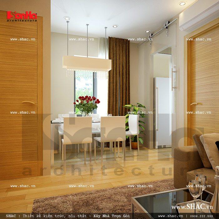 Khu bàn ăn của căn hộ tầng 2 sh nod 0137