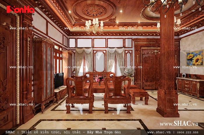 mẫu phòng khách bằng gỗ chất lượng giá tốt