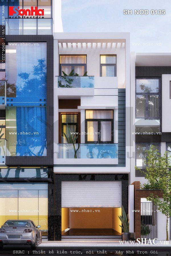 Sự giản dị nhưng sang trọng trong thiết kế của mẫu nhà phố 3 tầng hiện đại nổi bật