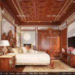 Mẫu phòng ngủ biệt thự đẹp sh btld 0022